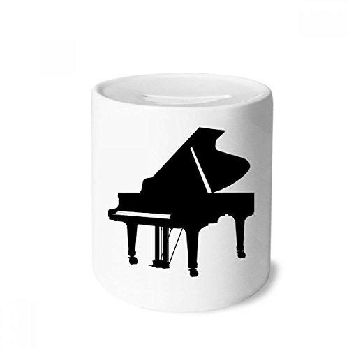 DIYthinker Klavier Klassische Musik-Instrument-Muster-Geld-Kasten Sparkassen Keramik Münzfach Kinder Erwachsene 3.5 Zoll in Height, 3.1 Zoll in Duruchmesser Mehrfarbig