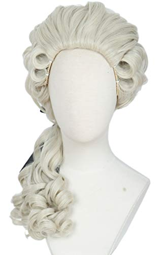 Linfairy Lawyer Curly Wig Light Blonde Halloween Cosplay Costume Wig For Party