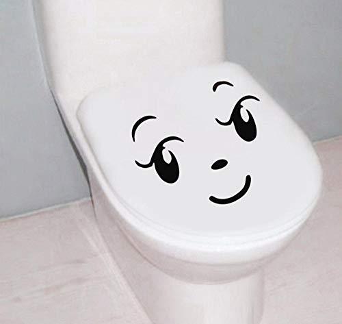 YUNZHIFU Afneembare grappige cartoon toiletbril muursticker decoratie muurkunst wand waterdicht lijm badkamer 25x20 cm