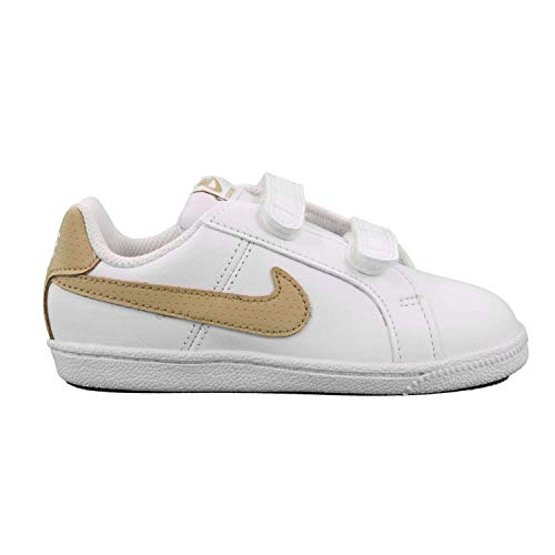 Nike Unisex Baby Court Royale (TDV) Hausschuhe, Mehrfarbig (White/Club Gold 105), 21 EU