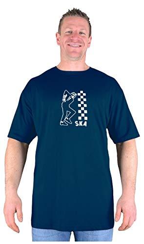 Men's Plus Size Ska T-shirt. 5 Colours, Sizes XXL to 8XL