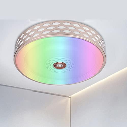 Luz De Techo Inteligente Wifi Compatible Con Amazon Alexa Y Google Assistant, Lámpara De Techo De Baño Regulable RGB De 60 W, Pantalla Impermeable IP44 Para Dormitorio De Cocina