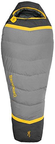 Browning Camping Vortex 0 Degree Mummy Sleeping Bag , Gold/Coal