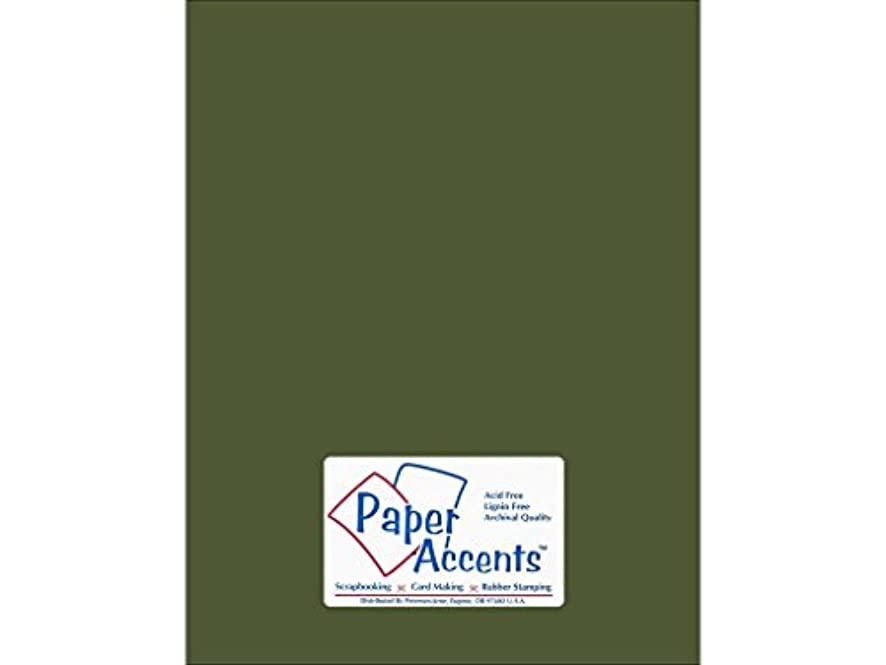 Accent Design Paper Accents Cdstk Smooth 8.5x11 74# Rain Forest