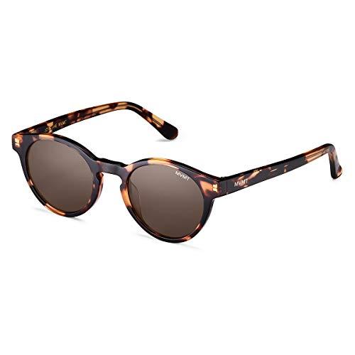 MVMT Rex | Polarized Women's & Men's Round Sunglasses | Tortoise/Green