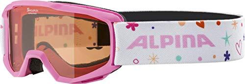 ALPINA PINEY Skibrille, Kinder, rose-rose, one size