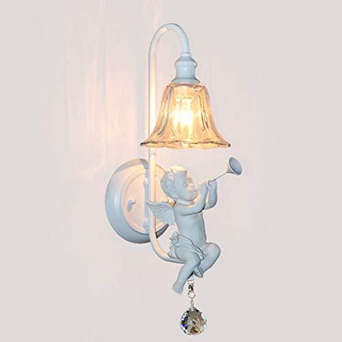 LIN HE SHOP Trumpet Angel Applique, Applique de Chevet Creative, 48 × 16CM , avec Ampoule de 5W Gratuit