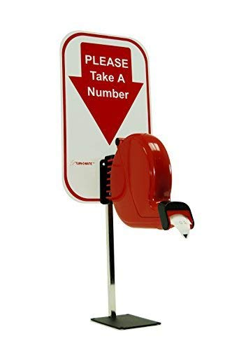 Microframe Take-A-Number System Ticket Dispenser with Free Ticket Roll