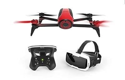 Parrot Bebop 2 FPV VR Drone Kit - Bebop 2 + Cockpitglasses + Skycontroller 2, Red (Renewed) from Parrot