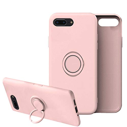 Funda para iPhone 7/7 Plus Apple Case,Fundas iPhone 7/7 Plus Silicona Antigolpes Carcasa Gel de sílice líquido Compatible con Posterior Magnético Iman (iPhone 7 Plus, Rosa)