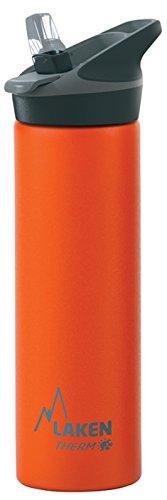 Laken Jannu Botella de Agua Térmica con Aislamiento de Vacío con Doble Pared de Acero Inoxidable 18/8. Hasta 24 Horas de Frío, Naranja, 750 ml