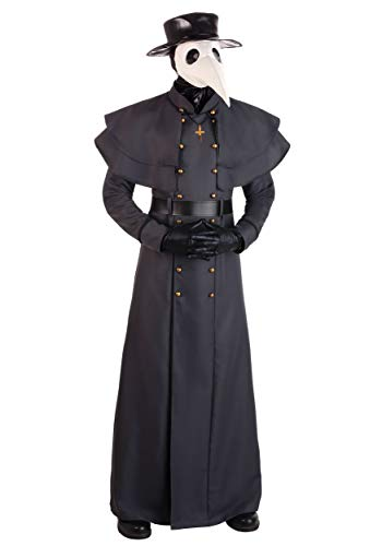 Classic Plague Doctor Costume for Adults Medium Black