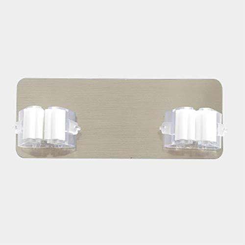GUANYAO - Ganchos adhesivos multiusos para fregona, montaje en la pared, soporte organizador para escoba, gancho para cocina, baño, ganchos fuertes, 1 unidad