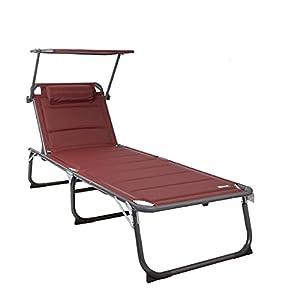 """Homecall XXL Aluminium Sun Lounger Beach Bed - 27"""" Width 150 kg Weight Capacity"""