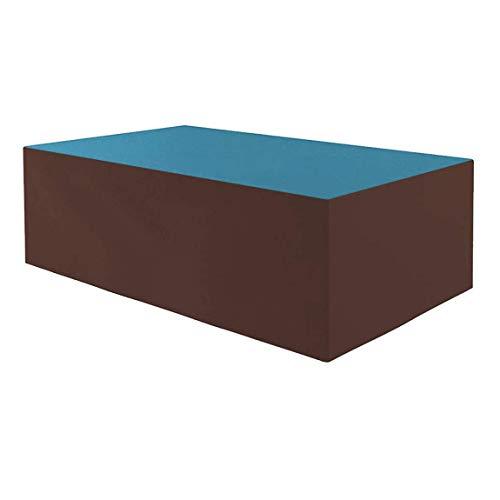 Planesium Premium - Funda protectora para mesa de jardín (575 g/lfm, 150 x 90 x 75 cm), color turquesa y marrón