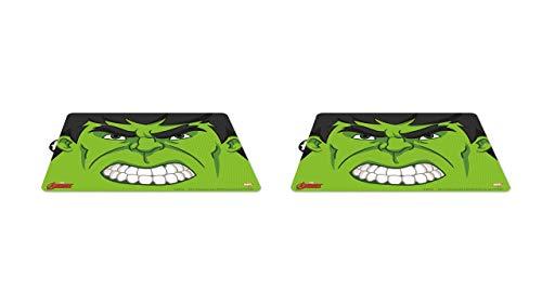 2452; pak 2 placemats Hulk; afmetingen 43x29 cm; plastic product; Geen BPA