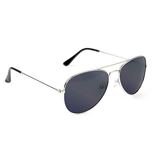 TOP&TOP Gafas de sol unisex adulto ojo de gato vintage oversize UV-protección gafas de sol gafas de sol gafas de conducción para hombre y mujer, plata