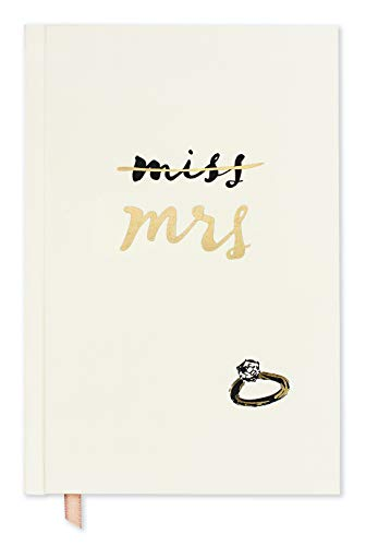 Kate Spade New York Women's Bridal Journal, 8.25' x 5.25' Bound Notebook with 200 Lined Pages, Miss to Mrs.