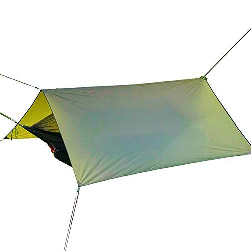 Hamaca con Mosquito Net Rain Fly Tarp - Ultralight Parachute Nylon,Resistente A La Lluvia Y A Los Rayos UV A Prueba De Viento,para Camping Al Aire Libre Senderismo Picnic Travel-B 290x290cm