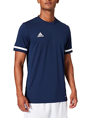adidas Herren T19 Shortsleeve Jersey Damen T-Shirt, Navblu/White, XL