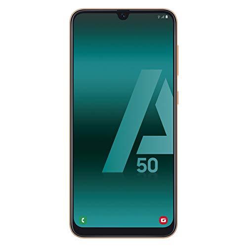 "Samsung Galaxy A50, Smartphone FHD sAmoled Infinity U Display (4GB RAM, 128GB ROM, 25MP, Exynos 9610, Carga Rápida) Versión Española, Android, 6.4"", Coral"