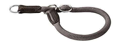 HUNTER Freestyle Dressurhalsung, Hundehalsband, Zugstopper, robust, wetterfest, 45 (M), grau