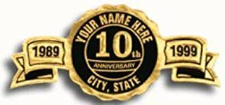 EGP Round Personalized Anniversary Seals, Roll of 500, 2 1/2 x 1 1/4