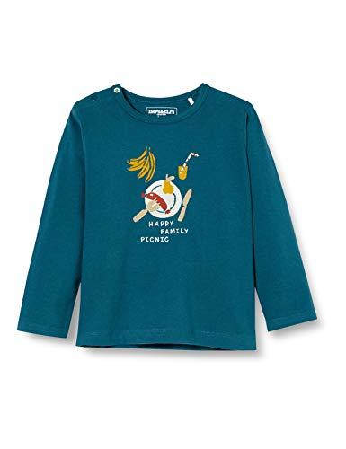 Imps & Elfs Baby-Jungen B Regular T-Shirt ls Sandton Langarmshirt, Blau (Majolica Blue P163), (Herstellergröße: 80)