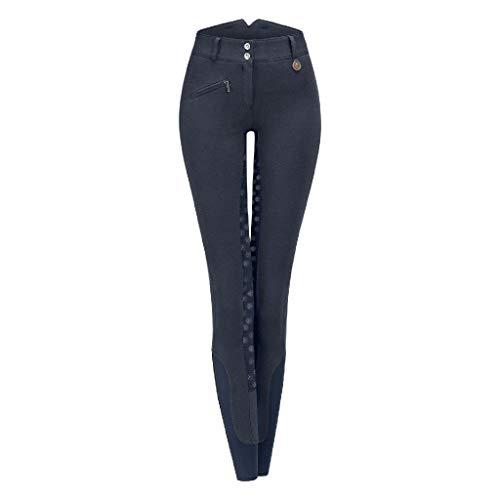 ELT - Pantaloni da equitazione termici a vita alta, taglia 40, colore: blu notte
