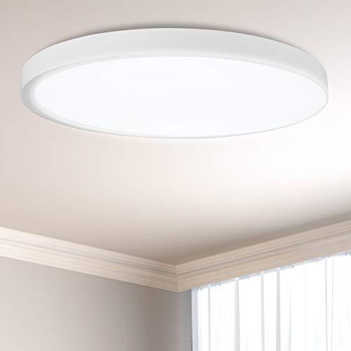 ANTEN LED Deckenleuchte 24W Rund Deckenlampe und Ultraslim, Ø300x24mm, Neutralweiß 4000K Deckenleuchten für Flur, Wohnzimmer, Kinderzimmer, Küche, Büro oder Schlafzimmer