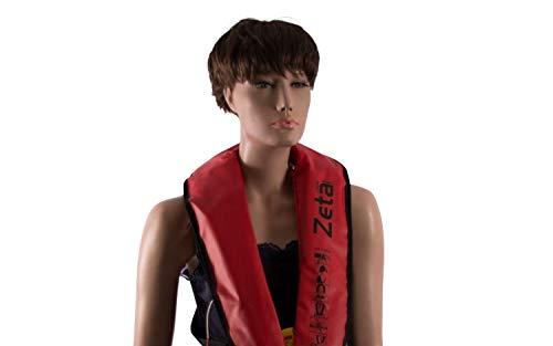 wellenshop Automatische Rettungsweste Zeta 290N Lalizas ab 40kg Rot selbstaufblasbare Schwimmweste automatik Erwachsene segeln Boot Rudern Angler