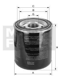 Mann Filter TB 1374/4 Cartouche de dessicateur, système d'air comprimé