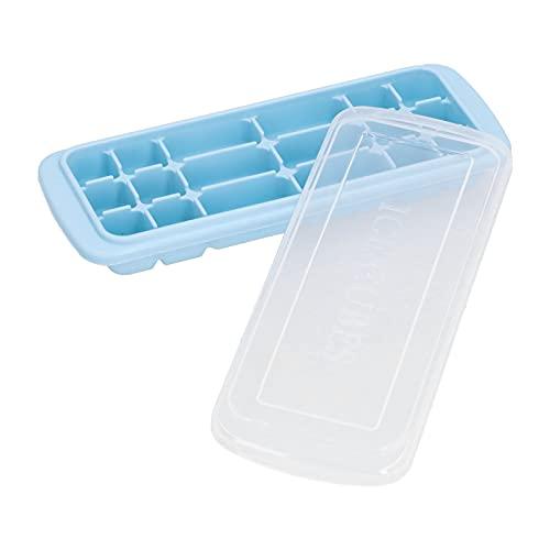 Vassoio per il ghiaccio, stampo per cubetti di ghiaccio Morbidezza e tenacità con coperchio per la produzione di ghiaccio al forno, sushi