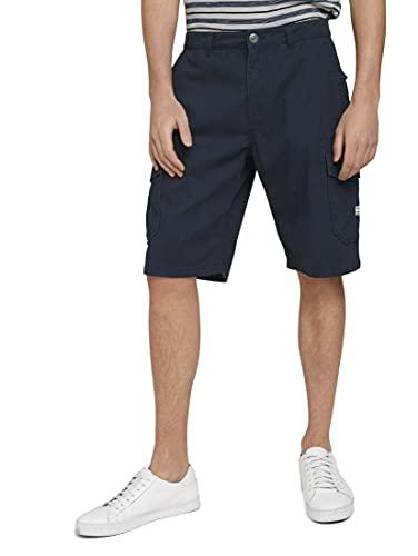 TOM TAILOR Herren 1026183 Relaxed Morris Cargo Bermuda Shorts, 10668-Sky Captain Blue, 34