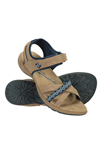 Mountain Warehouse Sandalias Summertime para Mujer - Zapatos Ligeros de Verano, Transpirables, duraderos, Casuales - para Playa, Viajes, Piscina Azul Marino Talla Zapatos Mujer 39 EU