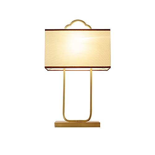 QYYYUNDING Lampada da Tavolo Cinese Lampada da Salotto Tutte Le lampade in Rame e la Famiglia Semplice e Calda Camera da Letto Lampada da Letto