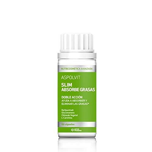 ASPOLVIT - Slim Absorbe Grasas, Complemento alimenticio para reducir el apetito - 60 cápsulas