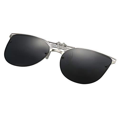 Aroncent Sonnenbrille Clip Aufsatz Clip on Unisex Vorhänger Brille Polarisiert Sunglasses