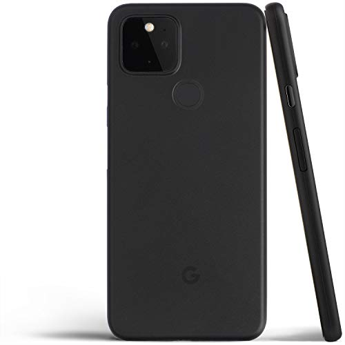Pixel 5 Case, Thinnest Cover Premium Ultra Thin Light Slim Minimal Anti-Scratch Protective - for Google Pixel 5   totallee (Frosted Black)