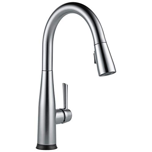 Delta Faucet Essa VoiceIQ Single-Handle Touch Kitchen Sink Faucet with Pull Down Sprayer, Alexa and Google Assistant Voice Activated, Smart Home, Arctic Stainless 9113TV-AR-DST