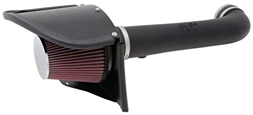 K&N Cold Air Intake Kit with Washable Air Filter: 2012-2018 Jeep (Wrangler, Wrangler JK) 3.6L...