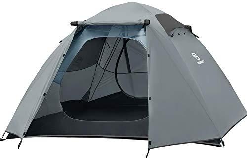Bessport Zelt 4 Personen Ultraleichte Camping Zelte 3-4 Saison, Wasserdicht Zelt Kleines Packmaß, Sofortiges Aufstellen für Trekking, Outdoor, Festival, Camping, Rucksack