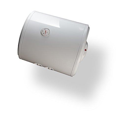 Bandini Braün SO-50 Scaldabagno Elettrico Cilindrico Orizzontale con Anodo di Magnesio e Valvola di Sicurezza, 1500 W, 230 V, Bianco, 50 litri