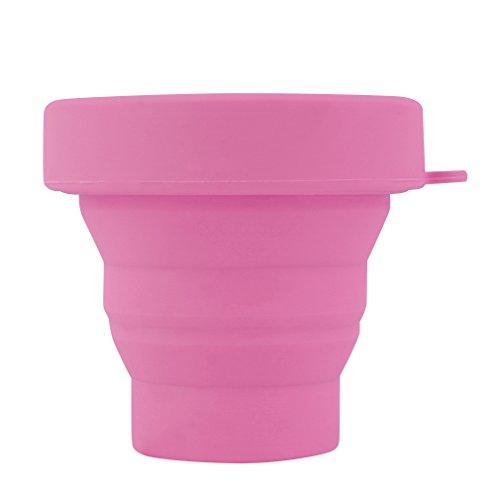 Ndier Portátil de silicona telescópica plegable taza plegable de viaje camping práctico utensilio de cocina