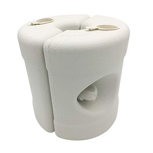 FACAI Zeltfassung 9 Liter Zylindrischer Wassersitz Sonnenschirmfuß Außenbedarf Kunststoffboden,Red