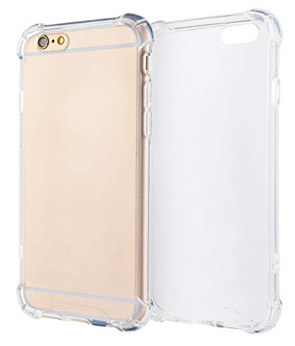 MyGadget Clear TPU Silikon Hülle Eckenschutz für Apple iPhone 6s Plus 6 Plus Crystal Case - Extra Stoßfest & Robust Bumper Schutzhülle Cover in Transparent