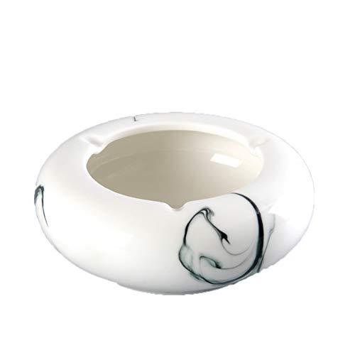 FENPING Cendrier Cylindre Créatif Cylindre Décoratif Personnalité Créative Carré en Céramique Grande Ronde Simple Salon Chinois Table Basse Bureau Maison (Couleur : Large Round - Ink)