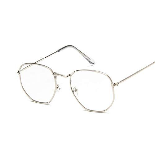 ShSnnwrl Gafas De Moda Gafas De Sol Gafas De Sol Mujer Espejo Retro Gafas De Sol para Mujer Gafas De Sol Vintage De Lujo Mujer Negro Plata