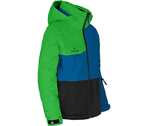 Bergson Kinder Skijacke Rio, Classic Green/Black [2307], 176 - Kinder