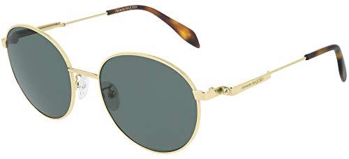 Alexander McQueen Gafas de Sol AM0230S GOLD/GREEN 54/19/150 unisex